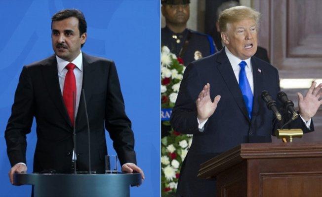 Trump, Katar Emiri Al Sani ile görüştü