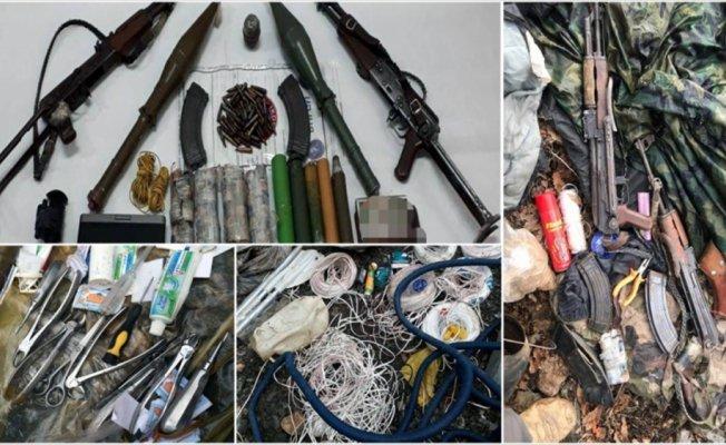 Tunceli'deki terör operasyonunda çok sayıda mühimmat ele geçirildi