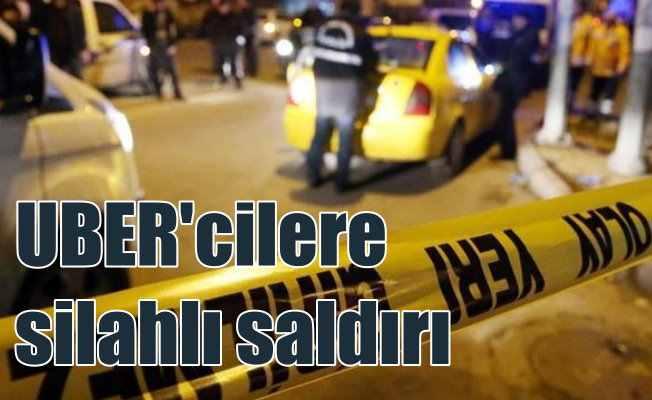 Uber aracına silahlı saldırı: Taksiciler çıldırdı