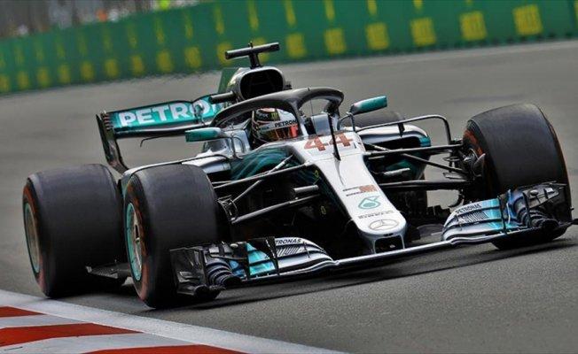 Azerbaycan'da zafer Hamilton'ın