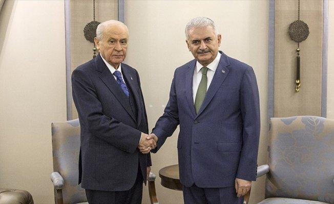 Başbakan Yıldırım ile MHP Genel Başkanı Bahçeli bir araya gelecek