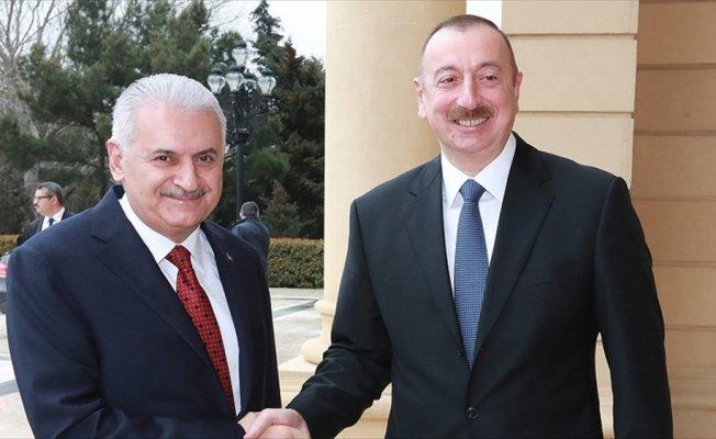Başbakan Yıldırım'dan Aliyev'e tebrik