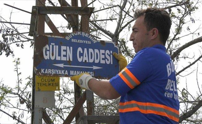 Başkentte 'Gülen' isimli cadde ve sokak tabelaları değiştirildi