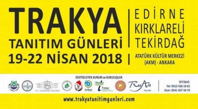 Bin Yıllık Türk Kültürü Ankara'da: Trakya Günleri Ankara'da başlıyor