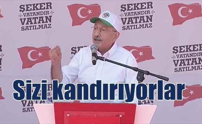 Çorum'da Şeker Mitingi'nde konuşan Kılıçdaroğlu'dan sert sözler