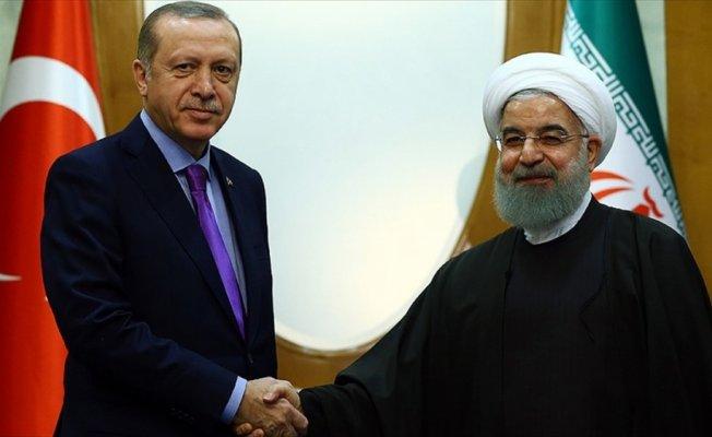 Cumhurbaşkanı Erdoğan ile Ruhani'nin görüşmesi başladı