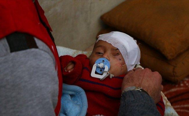 Doğu Guta'nın direniş sembolü Kerim bebek İdlib'e ulaştı