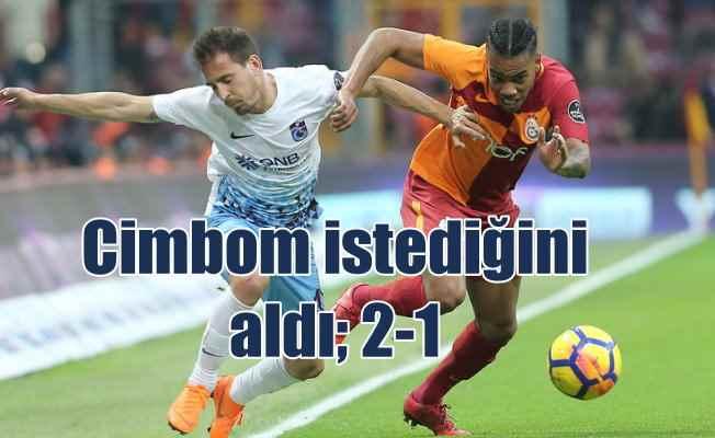 Galatasaray - Trabzonspor karşısında zorlanmadı