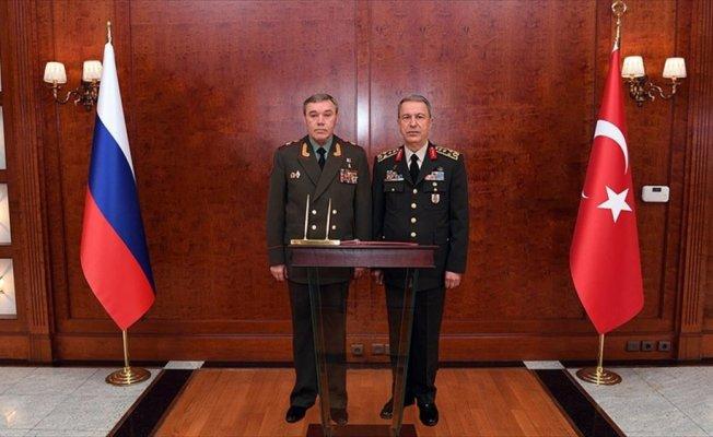 Genelkurmay Başkanı Akar ile Rus mevkidaşı Gerasimov görüştü