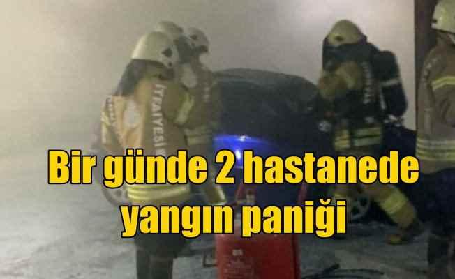 Haydarpaşa Numune Hastanesi'nde yangın paniği