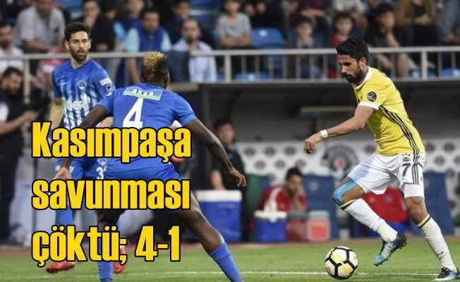 Kasımpaşa evinde Fenerbahçe karşısında dağıldı