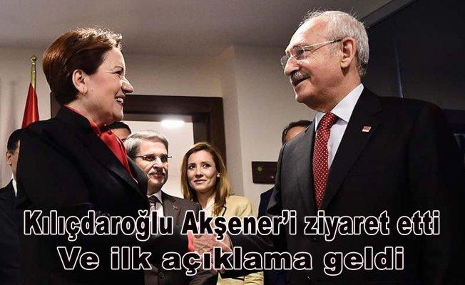 Kılıçdaroğlu Akşener'i ziyaret etti.Ve ilk açıklama geldi