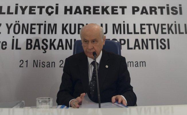 MHP Genel Başkanı Bahçeli: MHP mensuplarından hiçbir tanesi aday olarak çıkmamıştır