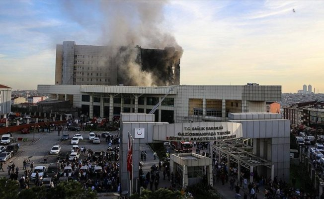 Taksim Eğitim ve Araştırma Hastanesinde yangın