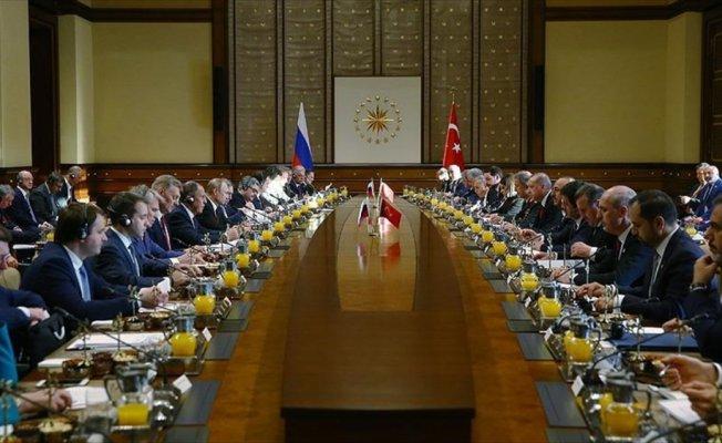 Türkiye-Rusya Üst Düzey İşbirliği Konseyi Toplantısı gerçekleşti