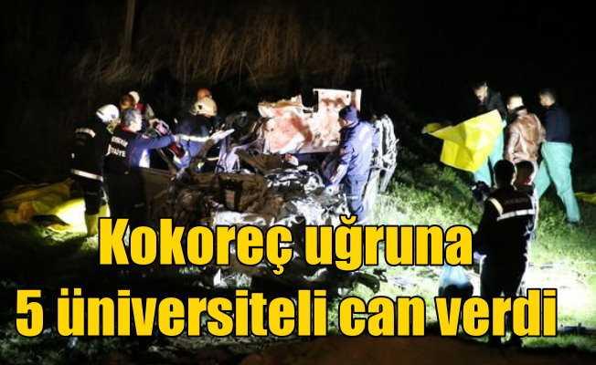 Üniversiteli öğrenciler Nevşehir'de kaza yaptı, 5 ölü var