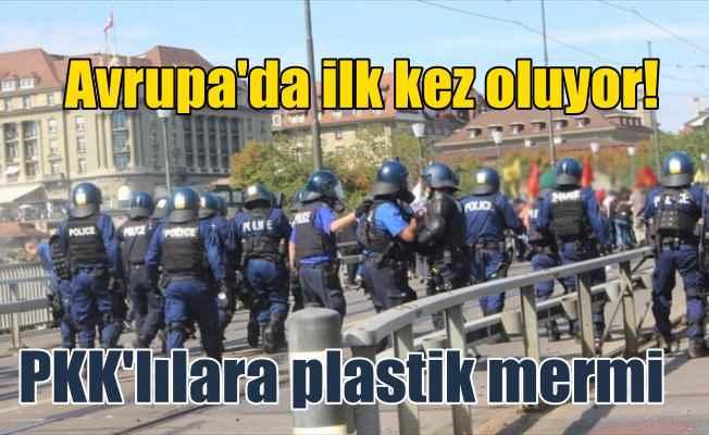 YPG/PKK yandaşlarına İsviçre polisinden plastik mermili müdahale