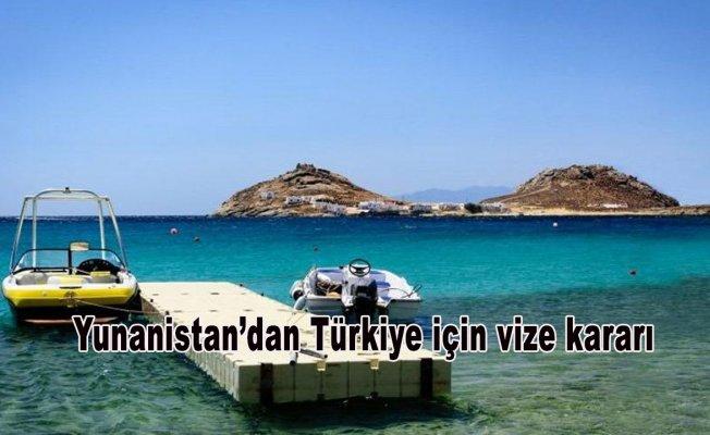 Yunanistan'dan Türkiye için vize kararı