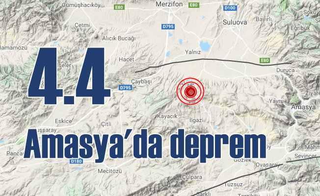 Son Depremler, Amasya'da deprem oldu, Merzifon 4.4 ile sallandı