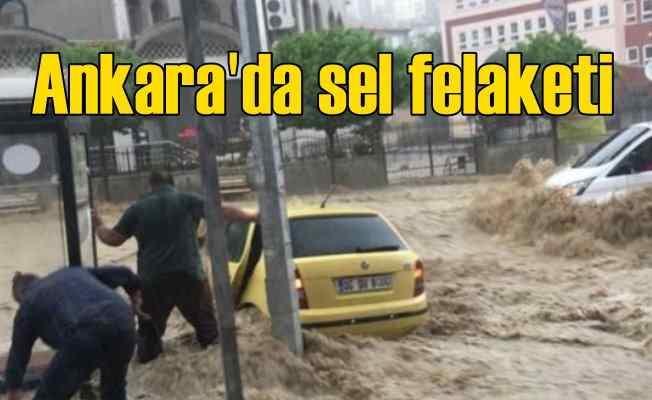 Ankara'da sel felaketi; 150 araç hasar gördü