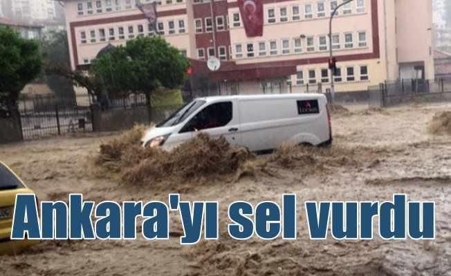 Ankara sağanak yağış etkili oluyor