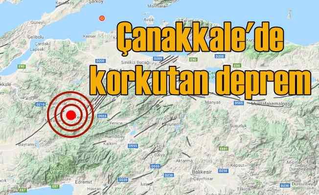 Çanakkale'de deprem oldu, Çanakkale Çan 4.5 ile sallandı