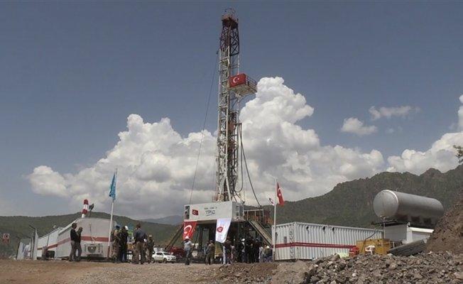 Çukurca'da petrol kuyusu için ilk kazma vuruldu