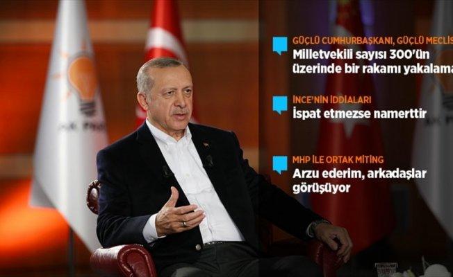 Erdoğan: Güçlü bir cumhurbaşkanı istiyorsanız, güçlü bir Meclise de ihtiyacımız var