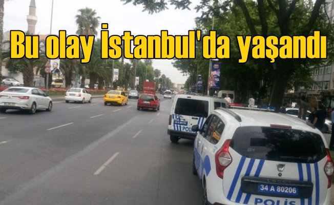 İstanbul'da caddeye euoro desteleri saçan araç kaçtı