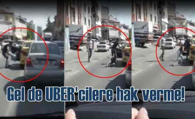 Kadını yerlerde sürükleyen taksicinin suç dosyası kabarık