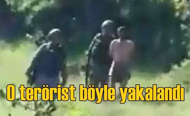 Kırmızı listedeki terörist yarı çıplak yakalandı