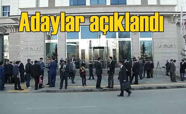 Seçim 2018; AK Parti milletvekili adayları belli oldu