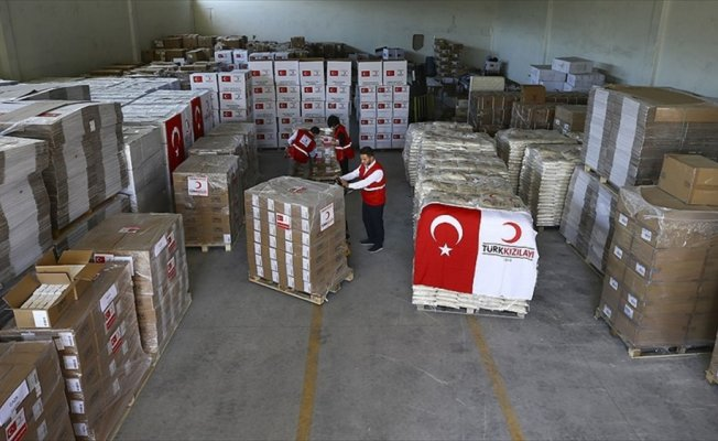 Türk Kızılayının yardımları sevkiyata hazır