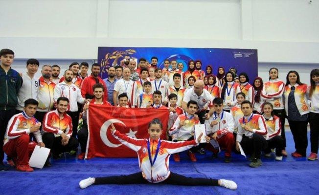 Wushu Şampiyonası'nda 7 altın, 8 gümüş, 10 bronz madalya
