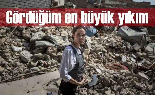 Angelina Jolia Musul'da; Böyle yıkım görmedim