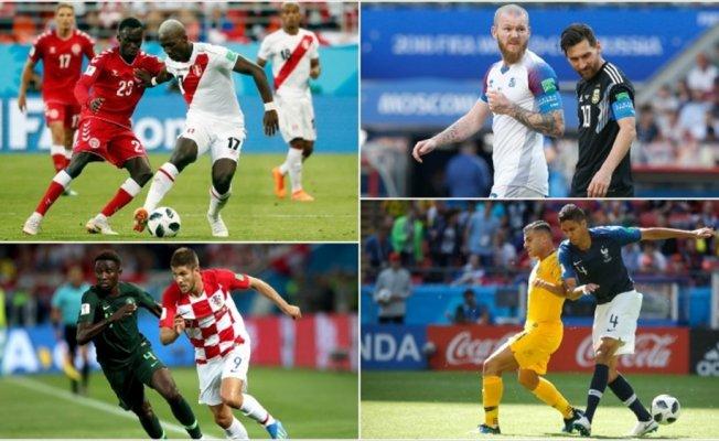 Dünya Kupası üçüncü günü maçları tamamlandı
