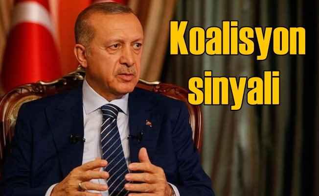 Erdoğan'dan ilk kez 'Koalisyon' olabilir açıklaması