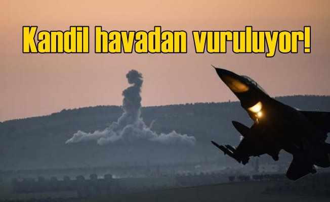 Kandil havadan 20 uçakla vuruldu: Operasyon hızlandı