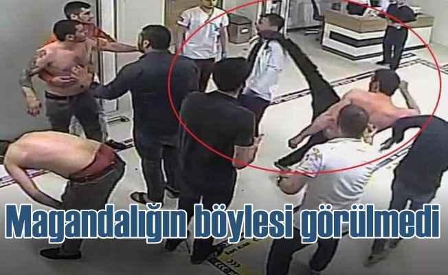 Magandalar hastanede doktorun yüzüne tekme attı