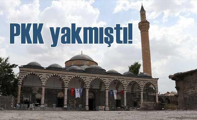 PKK'lıların yaktığı tarihi camiyi devlet ayağa kaldırıyor