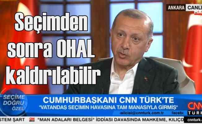 Son dakika | Erdoğan; Seçimden sonra OHAL kaldırılabilir!