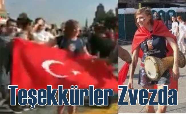 Teşekkürler Zvezda: Dünya Kupası'nda Türkiye'yi o temsil etti