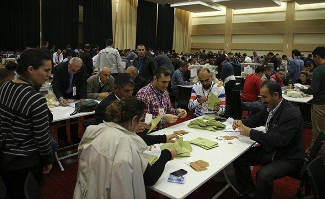 Yurt dışı oyların sayımı sona erdi