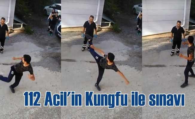112 Acil ekibine Kungfu'lu saldırı