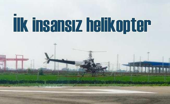 Çin'in ilk insansız helikopteri test uçuşunu tamamladı
