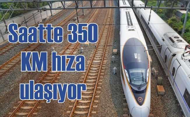 Çin'in Yeni Hızlı Treni Saatte 350 km Hızla Seferlerine Başladı