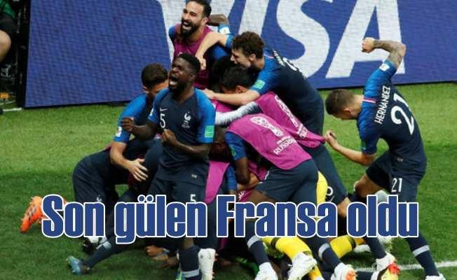 Fransa kupayı 4 golle kaldırdı | Fransa 4 - Hırvatistan 2