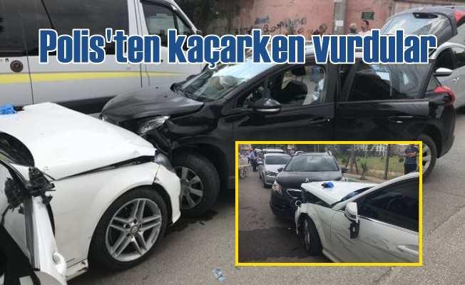 Polisten kaçarken 6 aracı hurda haline getirdiler