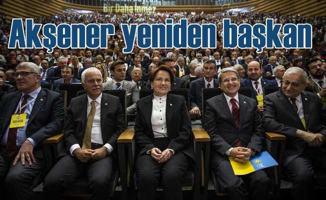 Akşener 'Kararınıza teslim oldum' dedi, yeniden genel başkan seçildi