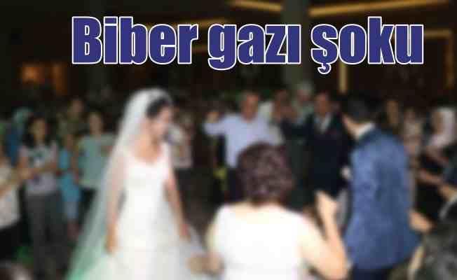 Düğünde biber gazı şoku; Çok sayıda yaralı var